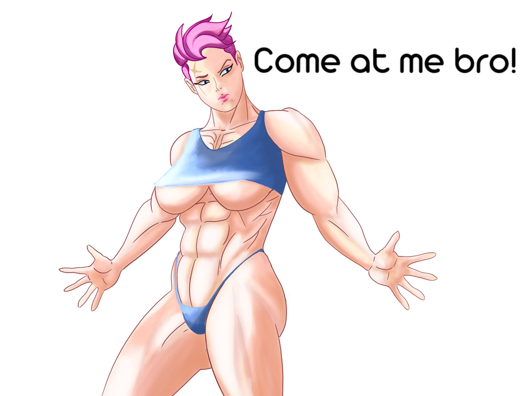 Quick doodle Zarya by Lingerie-Thief