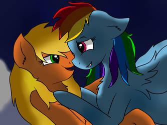 Appledash - cuddling by AmatourArtist