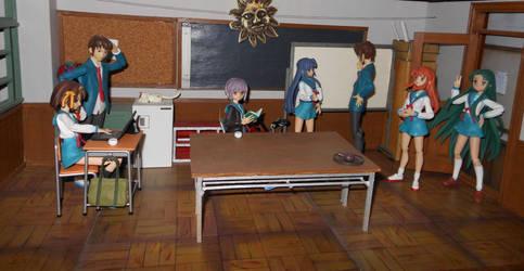 SOS Brigade Figma scale Club Room Model by PMBSakura37