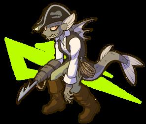 Grumpy Pirate Fish Fella