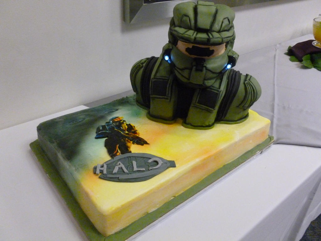 Halo Master Chief Wedding Cake 1 by EmrysJanson on DeviantArt