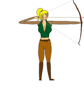 Cynisca with bow