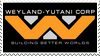 =WEYLAND YUTANI CORP= stamp by TRADT-PRODUCTION