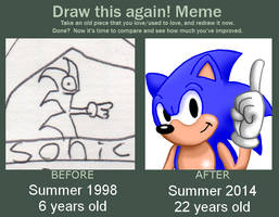 Meme Before And After : Sonic in 16 years by TRADT-PRODUCTION