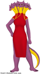 Tetriena - Chinese dress
