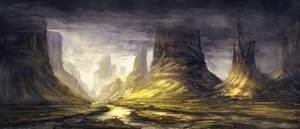 Environment Sketch - Twin Peaks