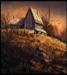 House at Sunset Study