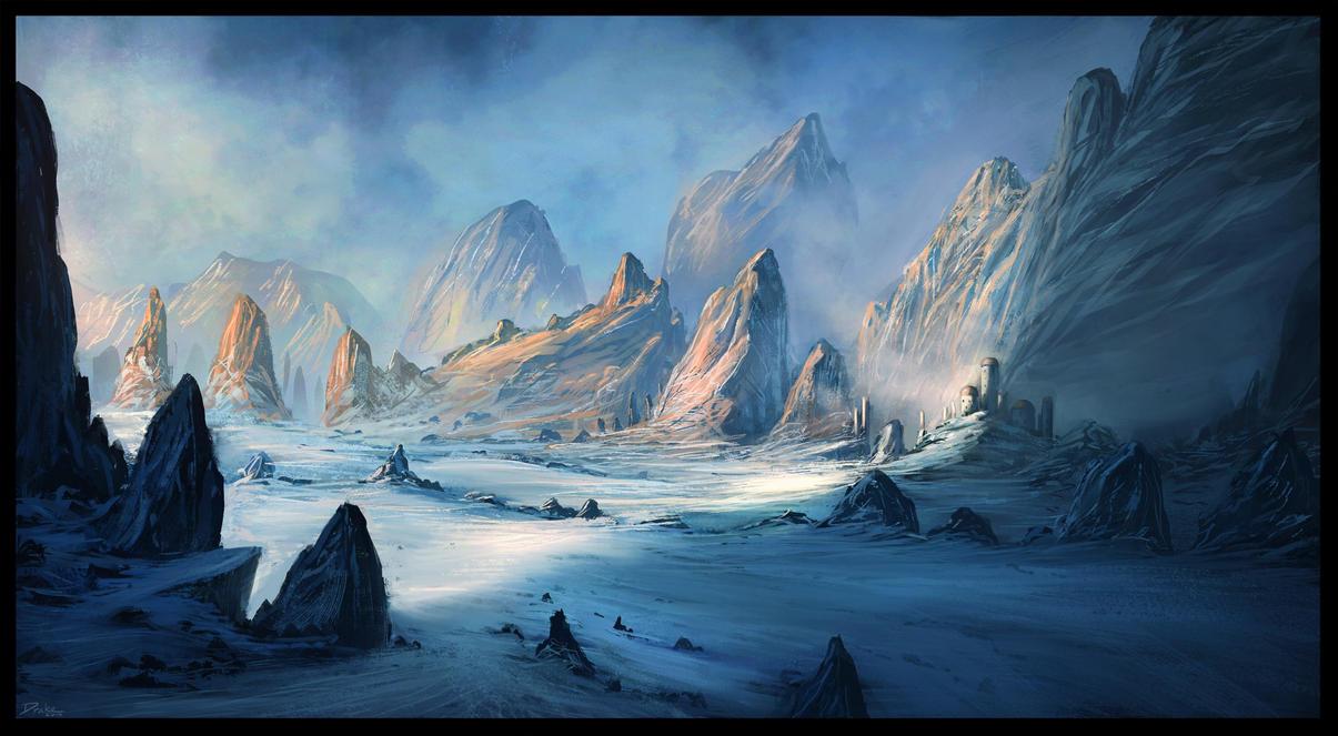 Sci-Fi Ice landscape by ChrisDrake1987