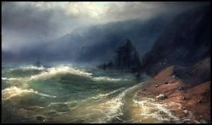 Stormy beach study