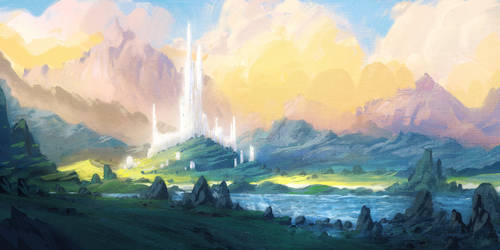 Procreate Elven Castle by ChrisDrake1987