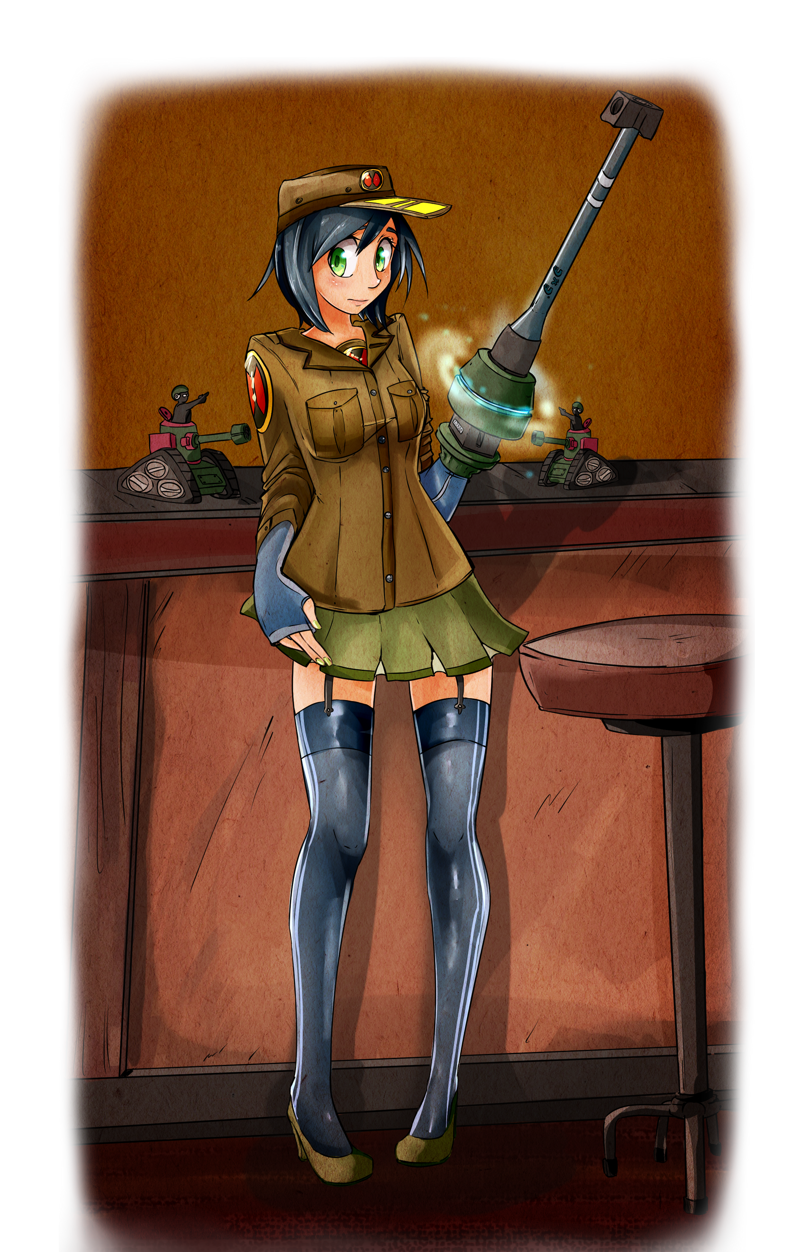 Commission: Megaman.exe Vintage Military Pin up by ...