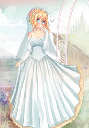 Commission: peaches and weddings