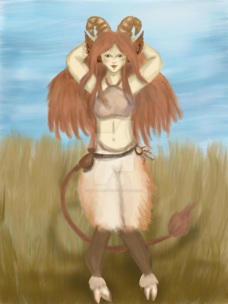 Faun girl by Druid-Lesny