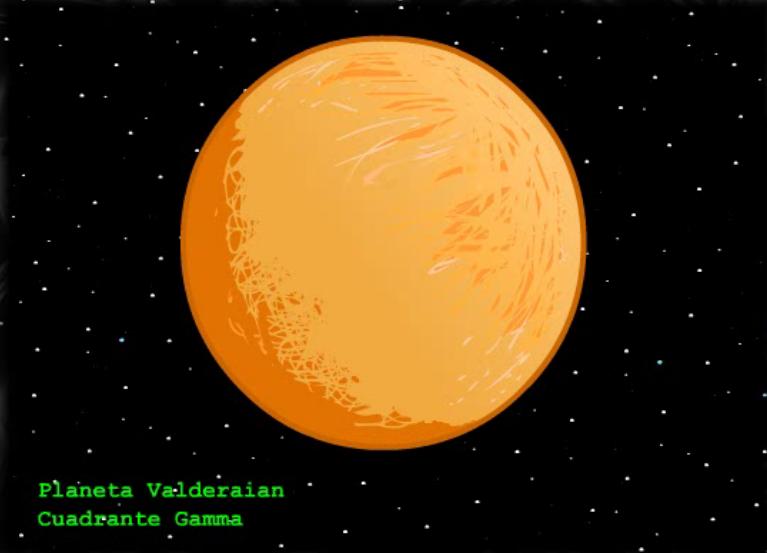 El Planeta Valderaian por Shermann