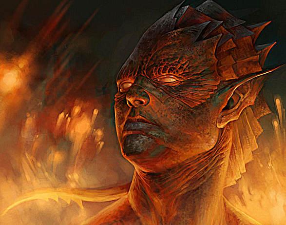 Elfo de la Sangre de Fuego por Art-of-Geun, modificado por Jakeukalane