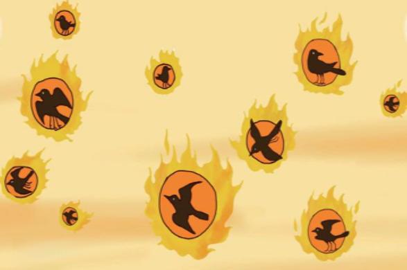Representación artística contemporánea de los Cuervos del sol de tres patas elevándose sobre la Tierra, por Autor desconocido