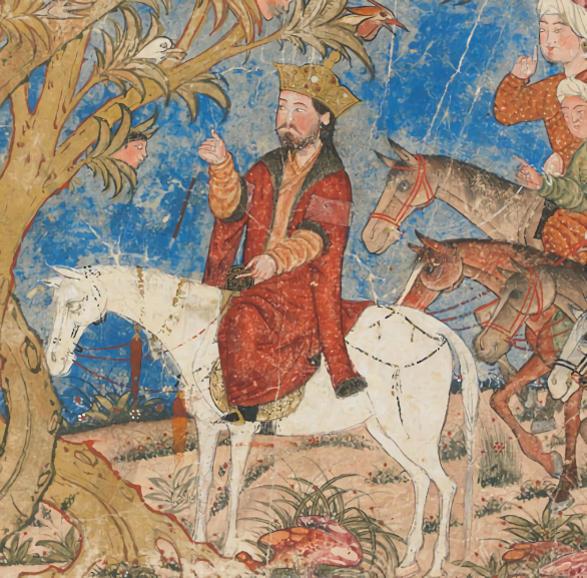 Alejandro Magno con el Árbol Parlante