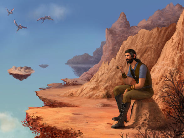 Hugh la Mano en Ariano por Maura Elko