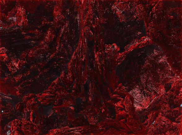 Plaga de la Sangre Resplandeciente formando murallas impenetrables, en la Segunda Guerra Élficosangrienta, por Jakeukalane