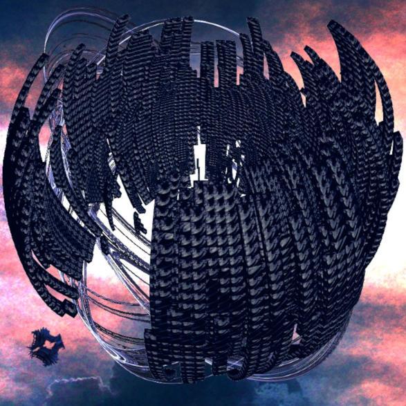 Nave espacial y Nave interplanar dyssiana por Jakeukalane