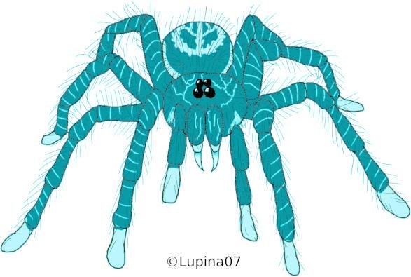 Las Arañas Gigantes Turquesas de Vanaamaxili, por Juzoka-Vargulf-Eqqus