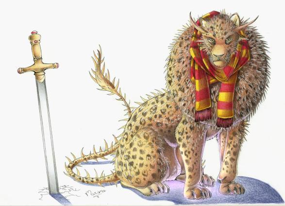 Nundu de Gryffindor por dorkwofl-nightmare