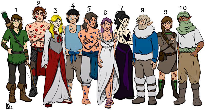 Linajes de Elfos Gemados de Yurops por Yuett