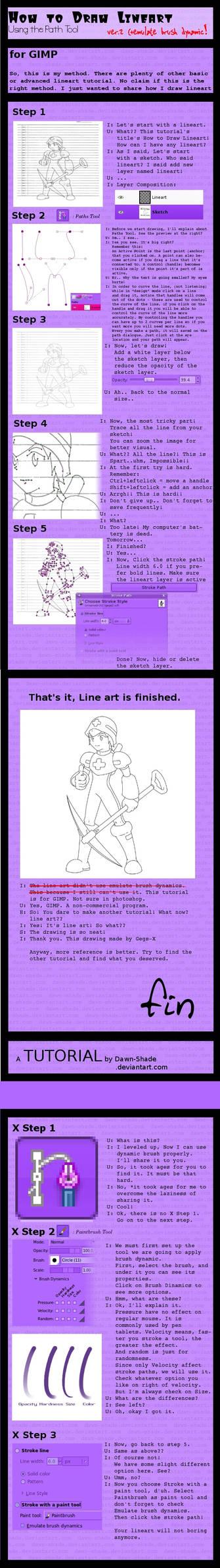 Line Art Tutorial v.2 using GIMP