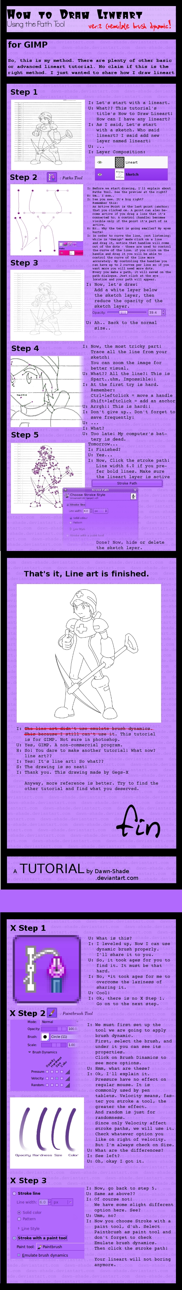Drawing Lines Using Gimp : Line art tutorial v using gimp by dawn shade on deviantart