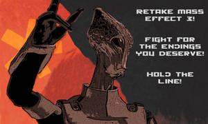 Retake ME3 - Soviet Kirrahe Poster