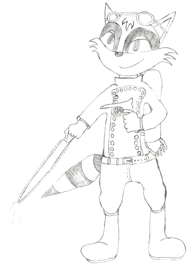 Rudy the Rocketeer Raccoon by Rocketeer-Raccoon