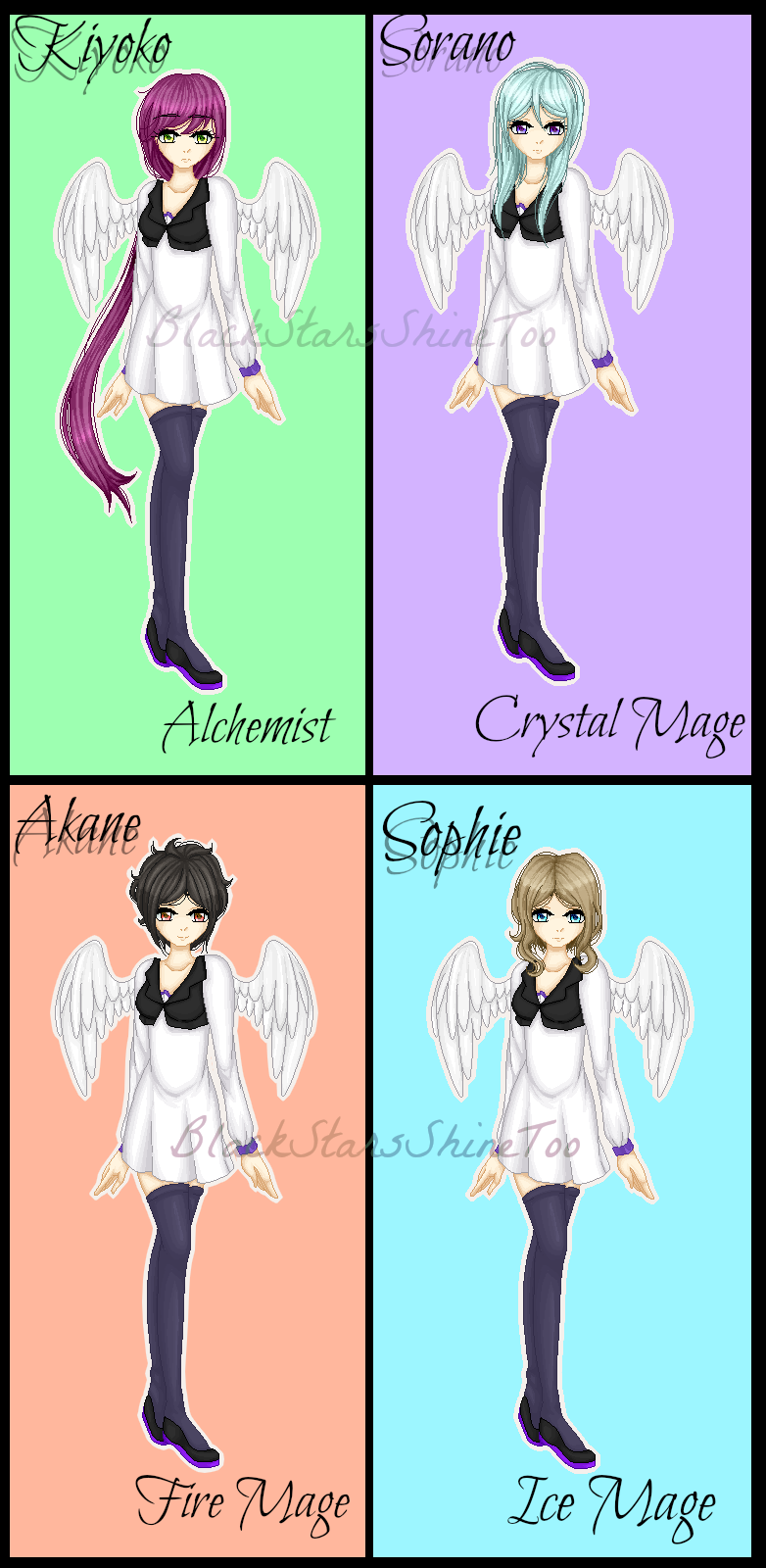 Mage class -girls- (new OCs) by BlackStarsShineToo
