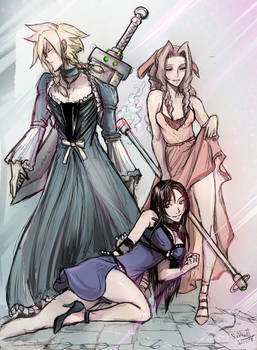 Final Fantasy VII Corneo Girls Trio