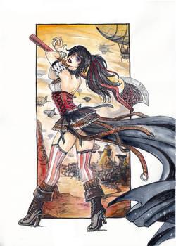 Steampunk Axe Girl