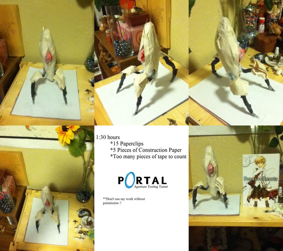 Portal Turret Papercraft by ChuChuDarling81