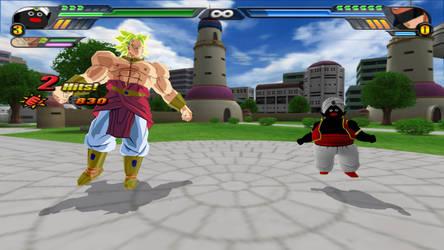 Mister Popo and Broly Potaras Fusion (Tenkaichi 3)