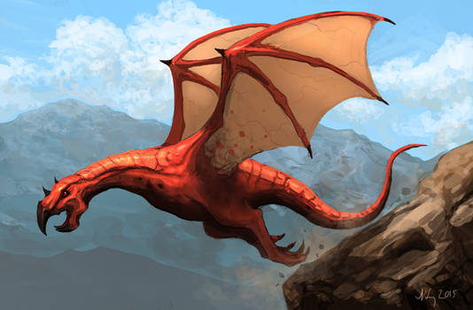 Dragon takeoff