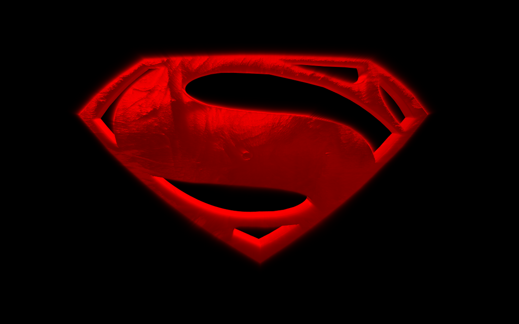 superman logo man of steel black and white