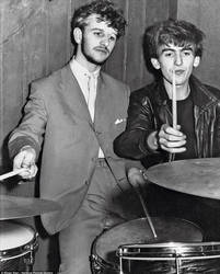 Ringo and George in 1961 by Just-Kondrad