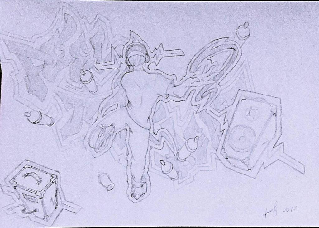 Sketch inspirado em Jet Set Radio! by dxlucasxb