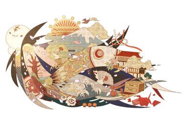 'WA' -the world of japan- by chamooi