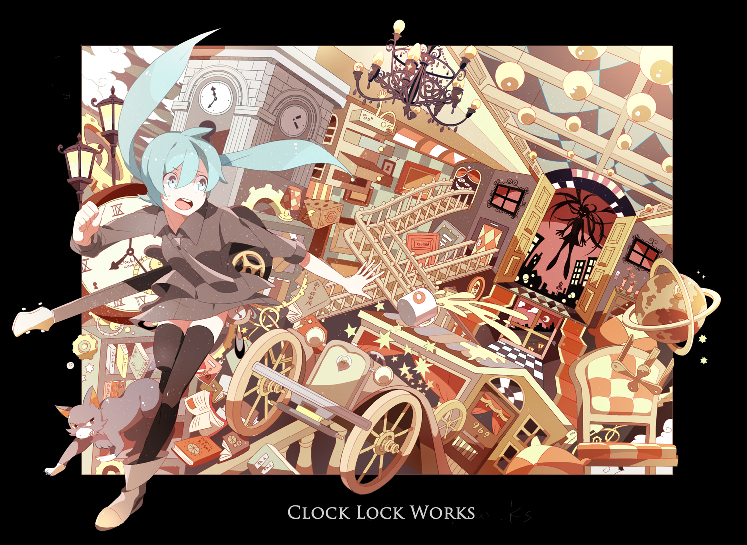 clock lock works by chamooi