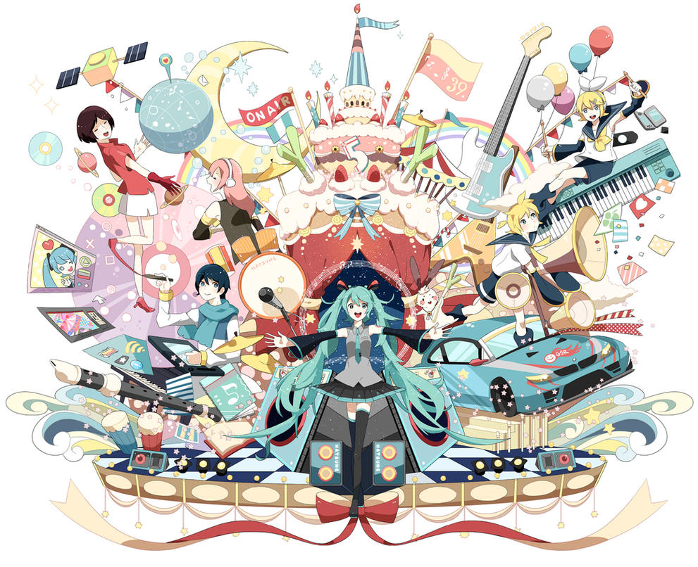 Hatsune Miku 5th Anniversary by chamooi