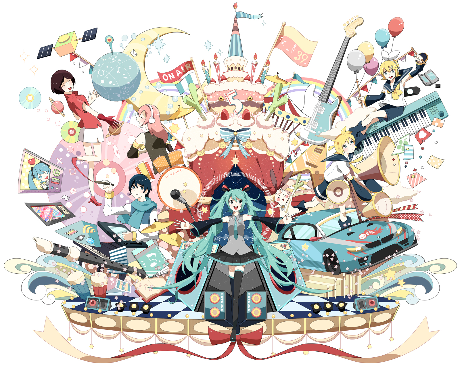 Hatsune Miku 5th Anniversary by chamooi