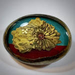 Still Life with Custard Apple Art Brooch by TheArtoLaughinAnnie