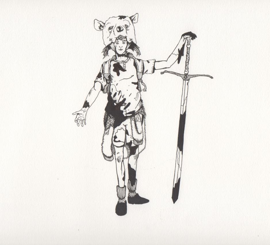 finn the human boy by PointyJake