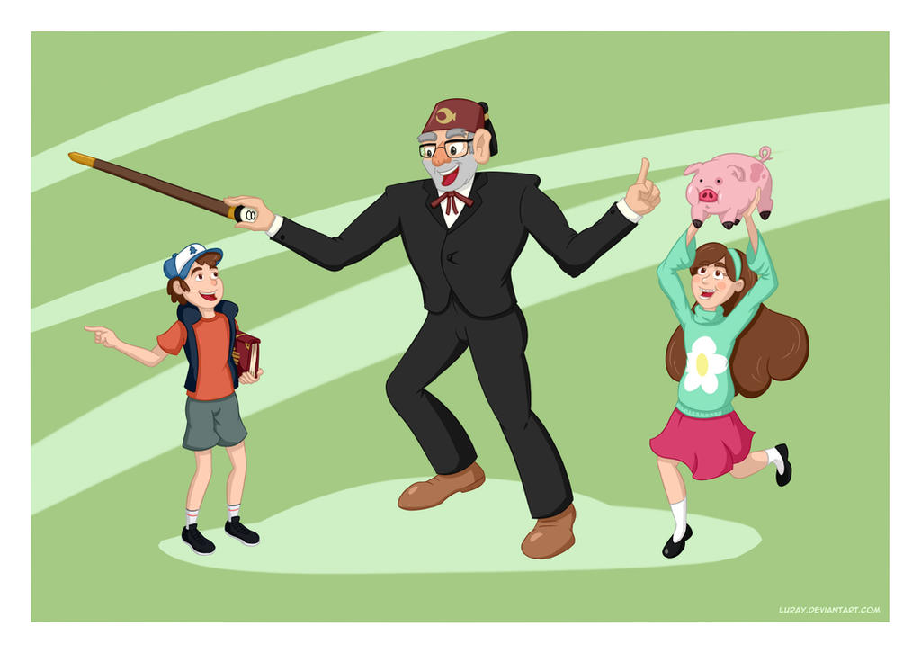 GF - Dipper, Mabel and Stan by Luray