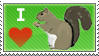 I heart squirrels stamp by kohakuhoshi