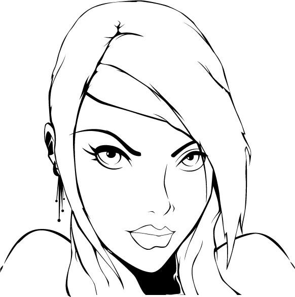 Line art by Xaomi