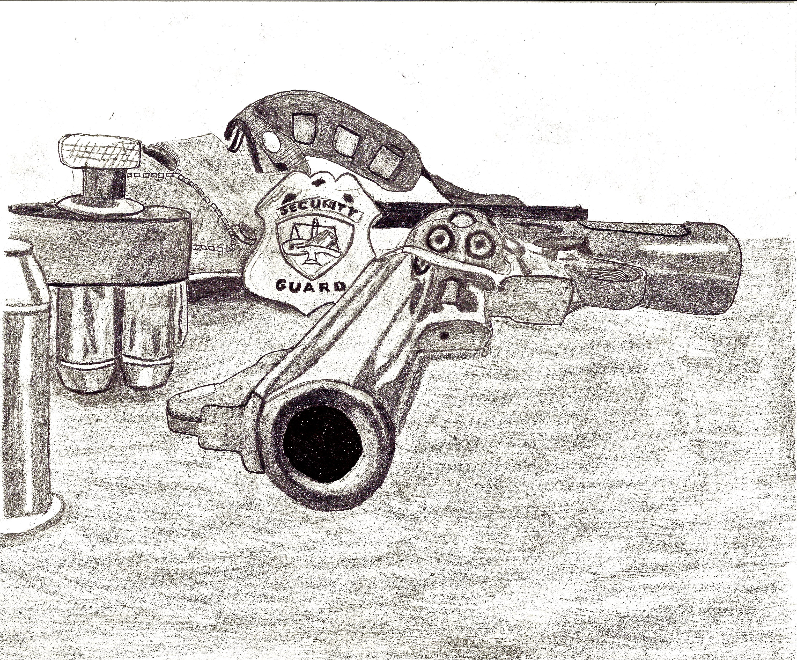 tools of the trade drawing by detective inspector